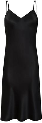 Moye Silk Slip Dress - Dita Black