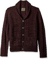 mens cable knit cardigan sweater - ShopStyle