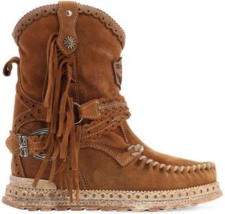 EL VAQUERO 70mm Arya Fringed Leather Boots