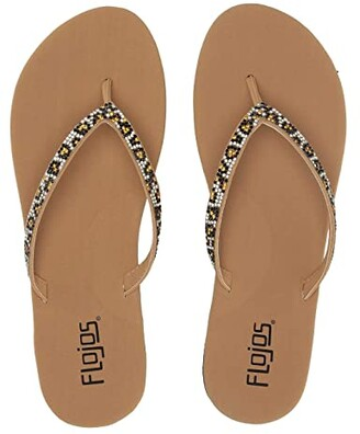 Flojos Spark (Tan Leopard) Women's Sandals