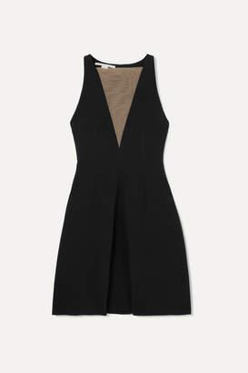 Stella McCartney + Net Sustain Tulle-paneled Stretch-crepe Dress - Black