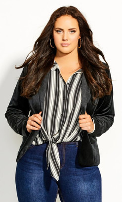 City Chic 70'S Glam Jacket - black