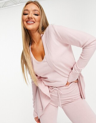 Chi Chi London lounge cardi co-ord in lilac