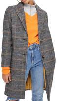 Topshop PETITE Checked Wool-Blend Coat