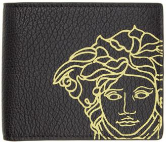 Versace Black Pop Medusa Bifold Wallet