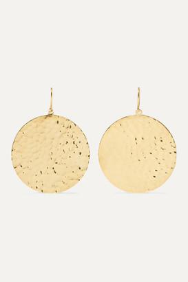 Jennifer Meyer Hammered 18-karat Gold Earrings - one size
