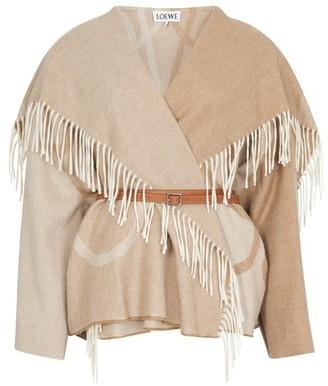 Loewe Anagram blanket jacket