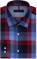 Tommy Hilfiger Men's Slim Fit Blue Check Dress Shirt