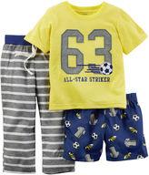 Carter's 3-pc. All-Star Pajama Set - Baby Boys 12m-24m