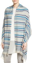 Eileen Fisher Women's Stripe Organic Cotton Knit Wrap