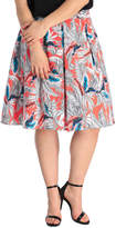 Miami Palm Print Full Skirt