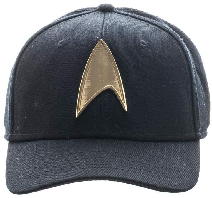 Bioworld Men/'s Licensed Star Trek Gold Metal Logo Snapback Hat O//S Black