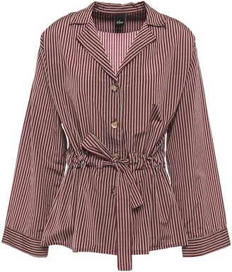 ELSE Dixie Striped Cotton-blend Pajama Top