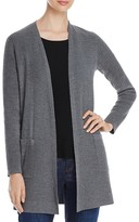Eileen Fisher Ribbed Wool Long Cardigan