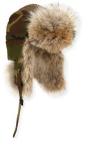 Canada Goose Coyote-Fur Aviator Hat, Black