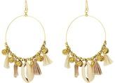 Chan Luu Base Metal Earrings w/ Cotton Tassels Shells Earring