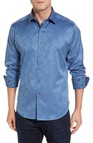 Robert Graham Men's Big & Tall Robert Stack Haystack Regular Fit Jacquard Sport Shirt