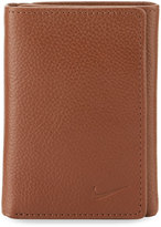 Nike Leather Tri-Fold Wallet, Brown