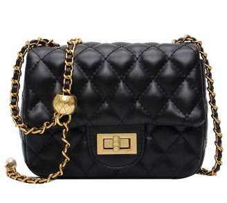 Goodnight Macaroon 'Esther' Gold Ball Quilted Bag (4 Colors)