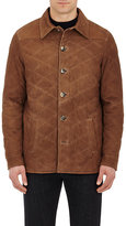 Isaia Men's Quilted Suede Jacket-TAN