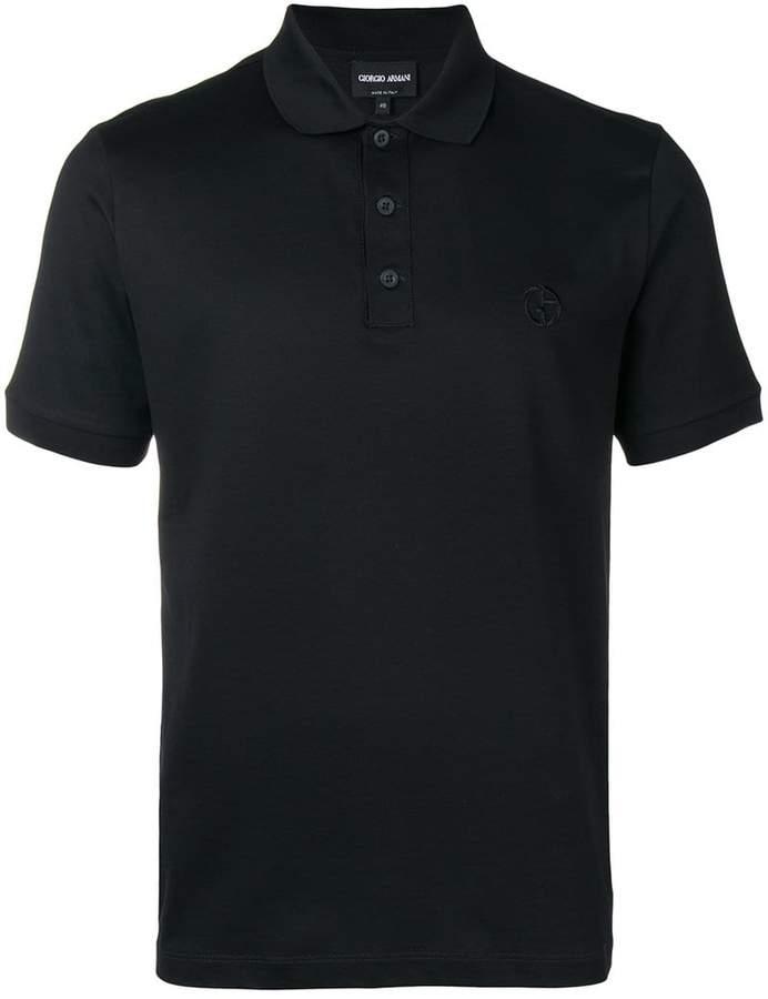 Giorgio Armani embroidered logo polo shirt