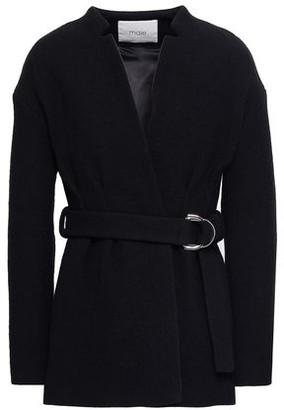 Maje Gato Belted Cotton-blend Jacket