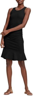 Michael Stars Zaria Sleeveless Shirred Flounce Dress