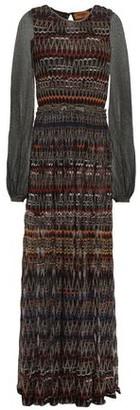 Missoni Paneled Metallic Crochet-knit Maxi Dress