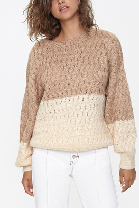 Forever 21 Colorblock Cable Knit Sweater