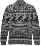 Faherty Wave Jacquard-Knit Merino Wool and Alpaca-Blend Sweater