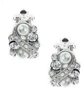 Nina Flo Cluster Crystal & Pearl Clip Earrings