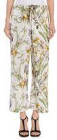 Alexander McQueen Floral-Print Silk Pajama Pants