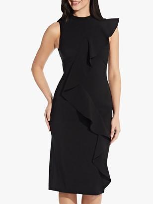 Adrianna Papell Ruffle Pencil Dress, Black