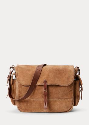 Ralph Lauren Roughout Suede Messenger Bag