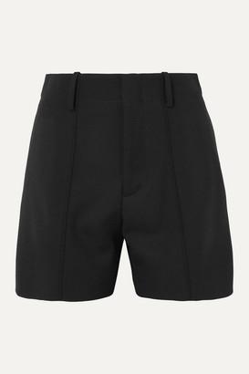 Chloé Wool-blend Twill Shorts - Black