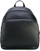 Emporio Armani allover logo backpack - men - Calf Leather/Nylon - One Size