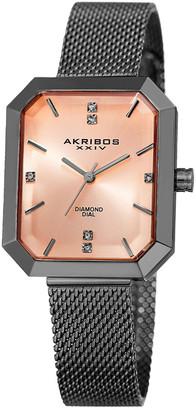 Akribos XXIV Akribos Men's Stainless Steel Diamond Watch