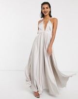 Asos Edition EDITION plunge cami maxi dress with full skirt