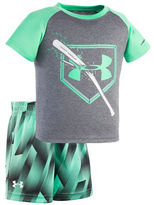 Under Armour Baby Boys Babys Two-Piece Tee and Shorts Set
