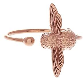 Olivia Burton Rose Gold Tone 3D Bee Open Ring