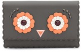 Fendi Women's Faces Leather Tube Wallet On A Chain - Blue/green