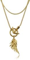 Roberto Cavalli Wing Antique Gold Necklace