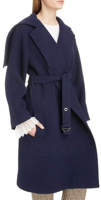Chloé Iconic Exaggerated Collar Wool Blend Coat