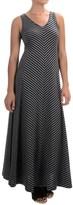 Joan Vass Chevron Stripe Maxi Dress - Sleeveless (For Women)