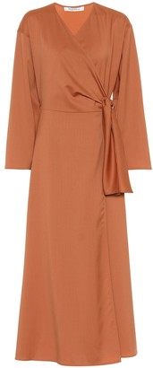 Max Mara Ladino virgin wool midi wrap dress