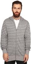 VISSLA Fine Point Yarn-Dye Stripe Zip Fleece Hoodie