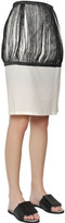 J.W.Anderson Silk & Cotton Twill Fringed Pencil Skirt