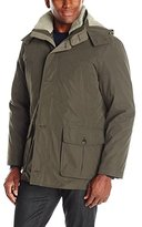 London Fog Men's Bonded Microfiber Parka with Detachable Sherpa Lined Hood