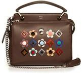 Fendi Dotcom Click embellished leather cross-body bag