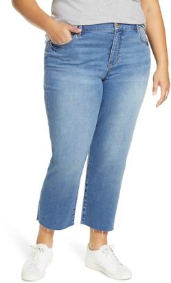 Liverpool Fray Hem Crop Straight Leg Jeans